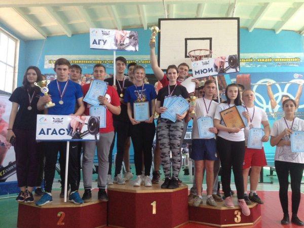 Спортсмены АГУ победили в состязаниях по гребле-индор