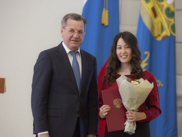 Governor of Astrakhan Region Awards Talented Students of ASU