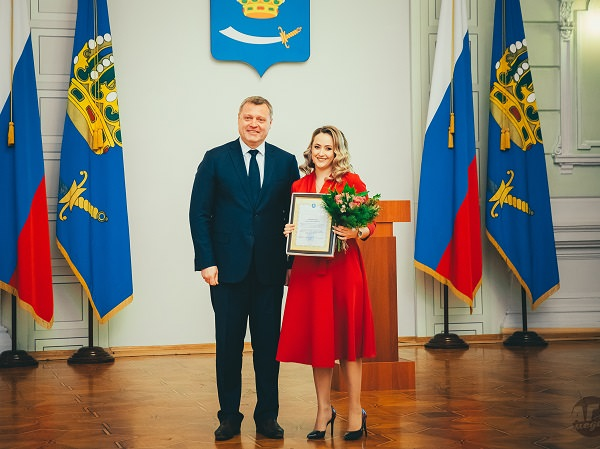 ASU Staff Member Is Awarded by Astrakhan Governor